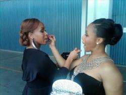 Tina Campbell and Erica Campbell at the Grammys