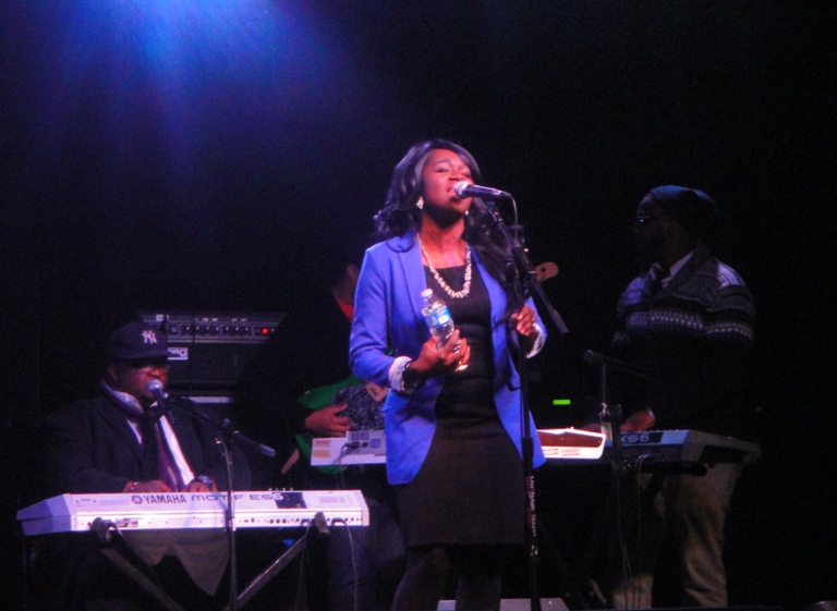 Denise Powell  at the mic