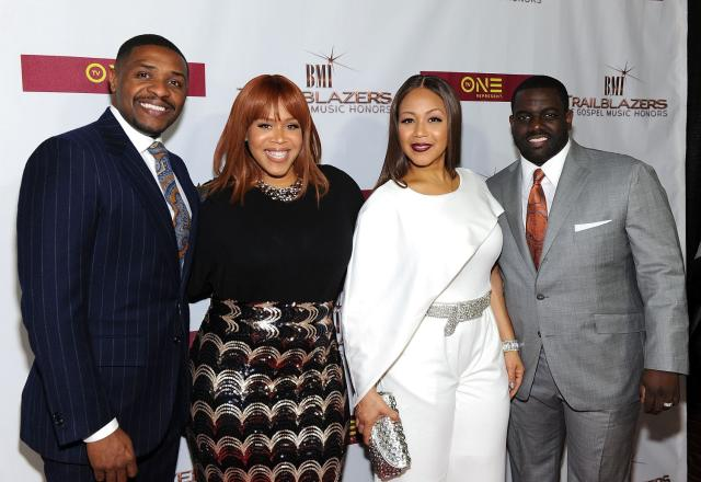Teddy and Tina Campbell, and Erica and Warryn Campbell