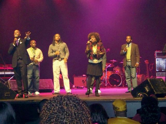 "Donald Lawrence and The Murrills singing ""Family (There's a Healing)"""