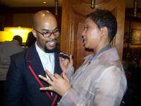 JJ Hairston of Youthful Praise makes it happen with GOSPELflava.com's Melanie Clark