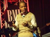 Kirk Franklin handles the hosting duties for the afternoon