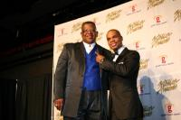 Rev. Milton Biggham and Kirk Franklin