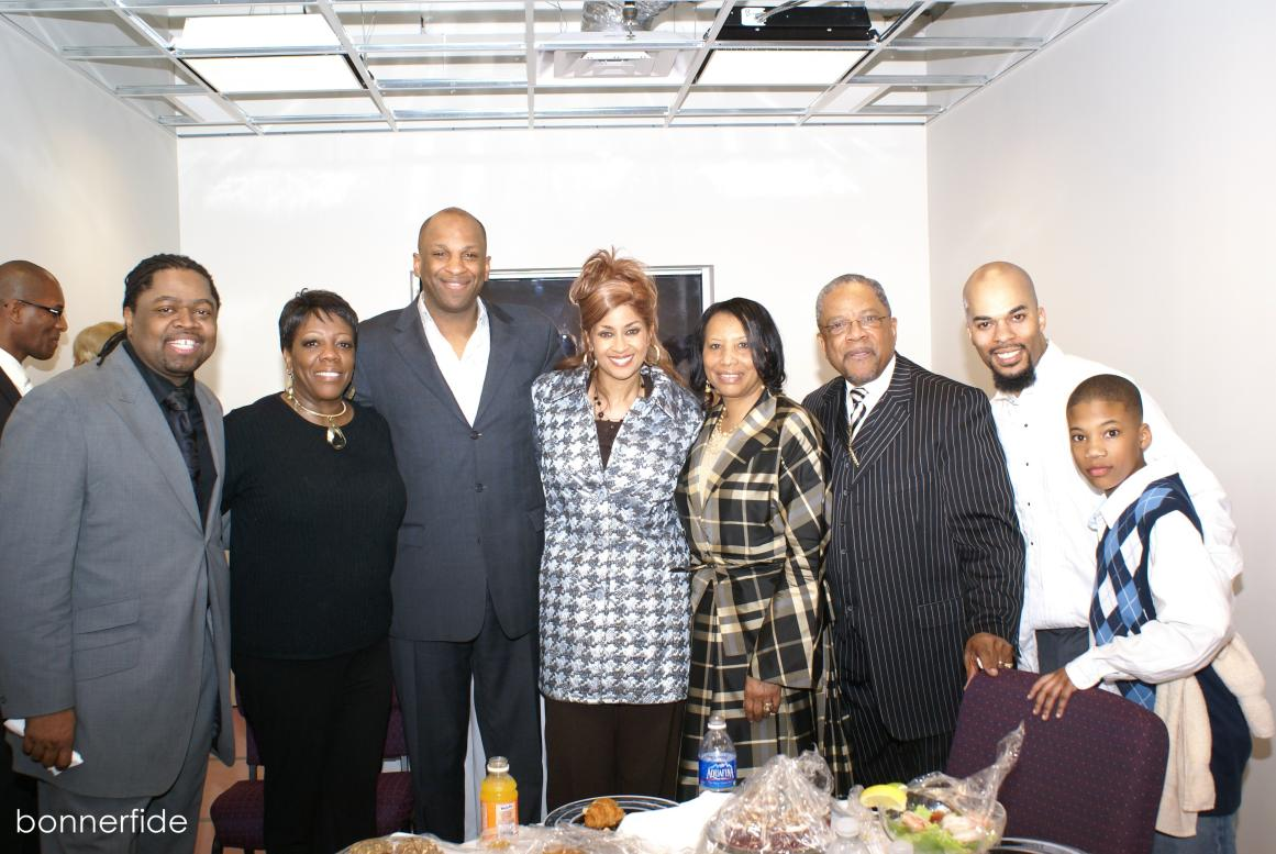 Stephen Hurd, Lorraine Stancil, Donnie McClurkin, Dorinda Clark-Cole, Bishop JC and Gloria White, JJ Hairston