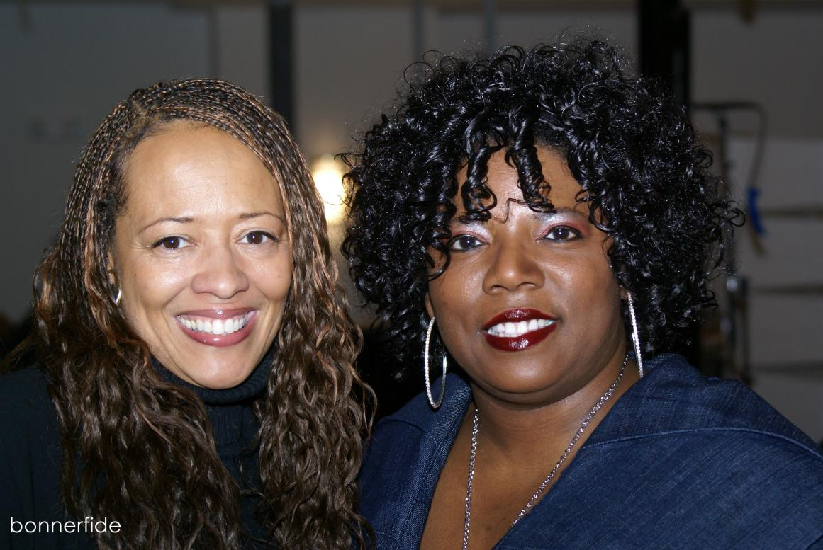WLIB's Liz Black and Light Records' Gina Miller