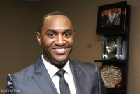 Jonathan Nelson preparing for the night's event