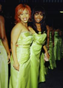 Bridesmaids Tina Campbell and Brandy Norwood